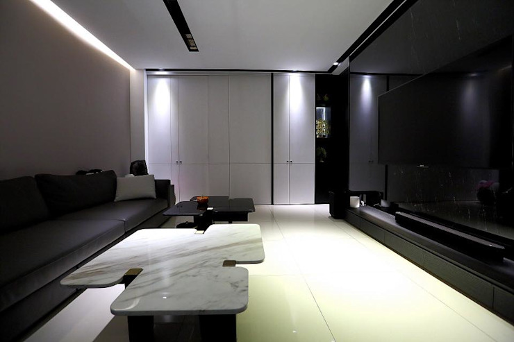 嘉義大溪厝室內設計案 根據 晴山設計 簡約風