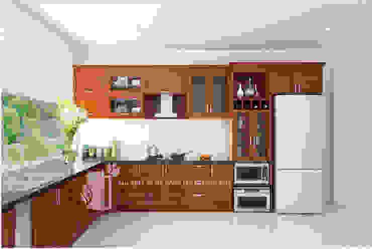 tủ bếp: hiện đại  by Vĩnh Thịnh, Hiện đại Chất xơ tự nhiên Beige