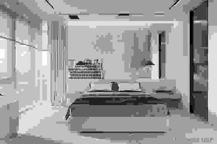 WHITE BREATH Tobi Architects Phòng ngủ phong cách tối giản
