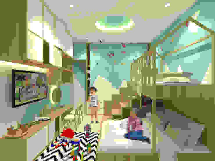 Mr. Adrian's Kids Bedroom Kamar Tidur Gaya Skandinavia Oleh SEKALA Studio Skandinavia Kayu Lapis