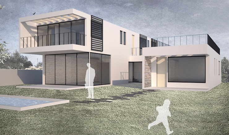 Casa Chamisero de BMAA Moderno Hierro/Acero