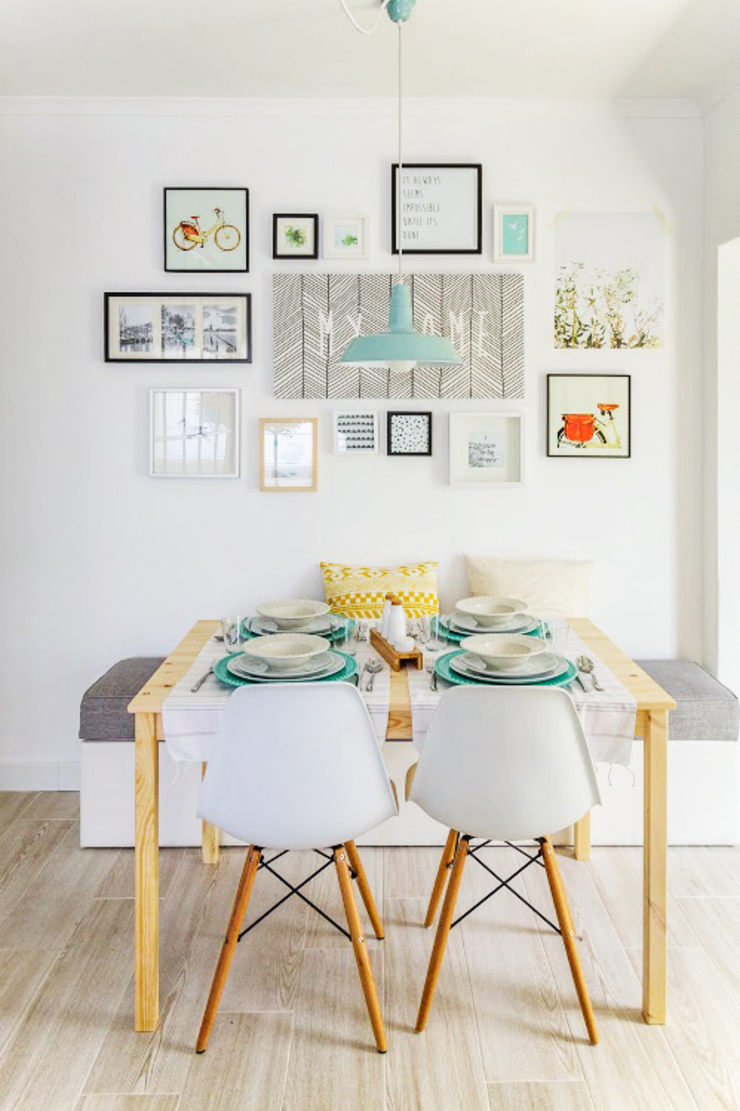 Scandinavian style dining room by Homestories Scandinavian