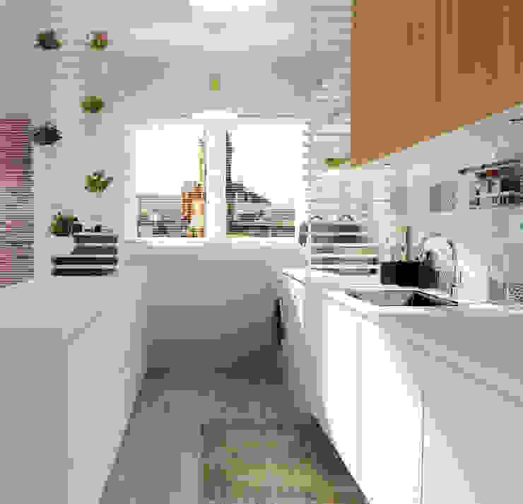 Casa do Zé e da Vanda Cozinhas escandinavas por Homestories Escandinavo
