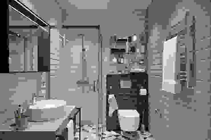 Квартира 74 кв.м. в современном стиле в ЖК Татьянин парк Ванная в стиле лофт от Студия архитектуры и дизайна Дарьи Ельниковой Лофт