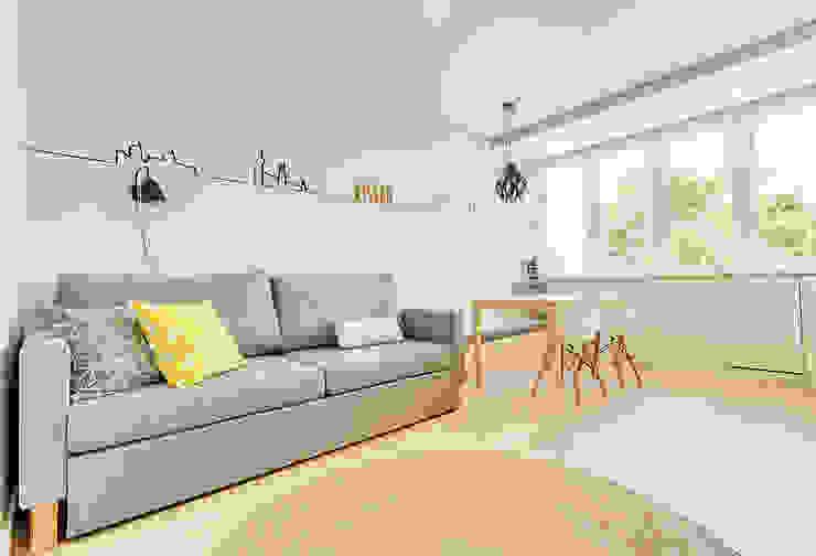 Apartamento da Alegria Salas de estar escandinavas por Homestories Escandinavo