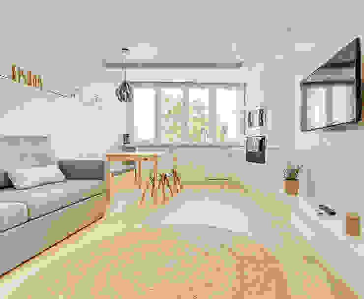 Apartamento da Alegria Homestories Salas de estar escandinavas