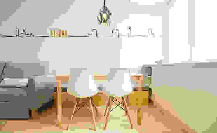 Apartamento da Alegria Salas de jantar escandinavas por Homestories Escandinavo