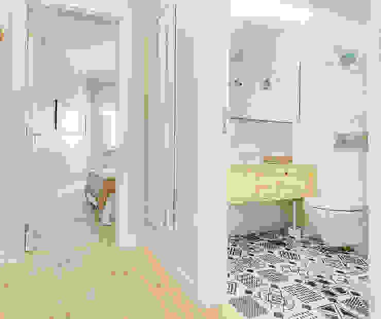 Apartamento da Alegria Corredores, halls e escadas escandinavos por Homestories Escandinavo