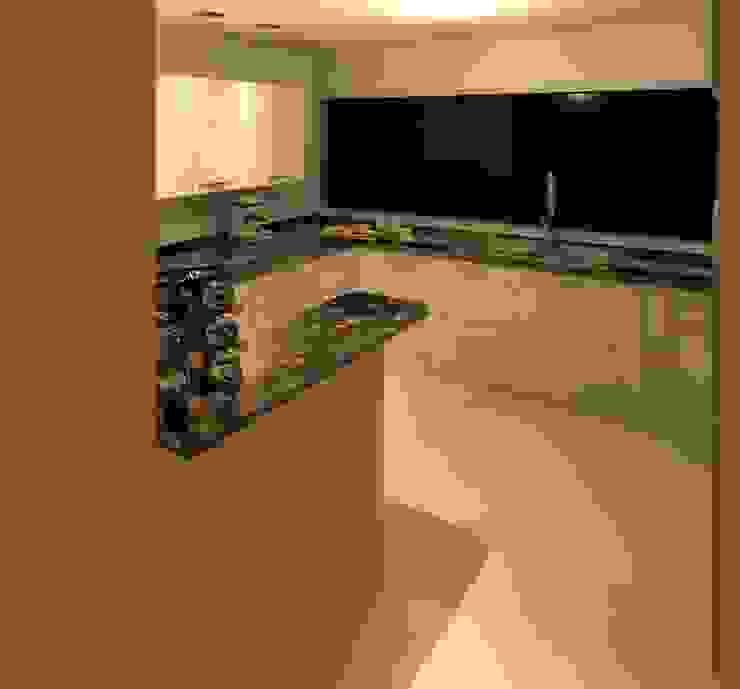 COCINA Cocinas de estilo moderno de ESTUDIO KULUMAK Moderno Granito