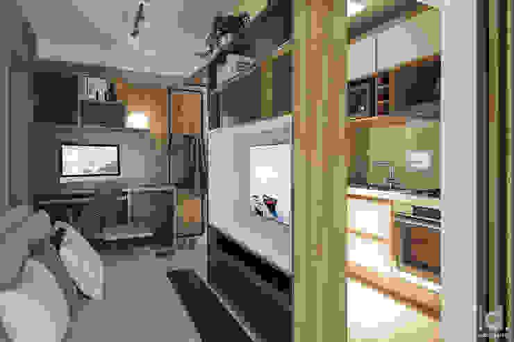 Imagem Living - Cozinha - Estudos por DCOM|d Arquitetura • Decoração • 3d