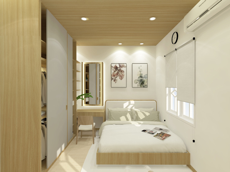 SEKALA Studio Modern style bedroom Wood effect