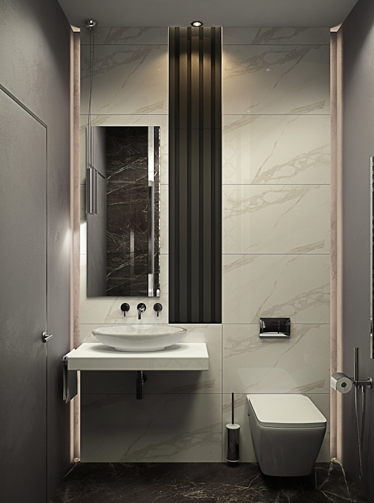 ДизайнМастер Modern style bathrooms Brown