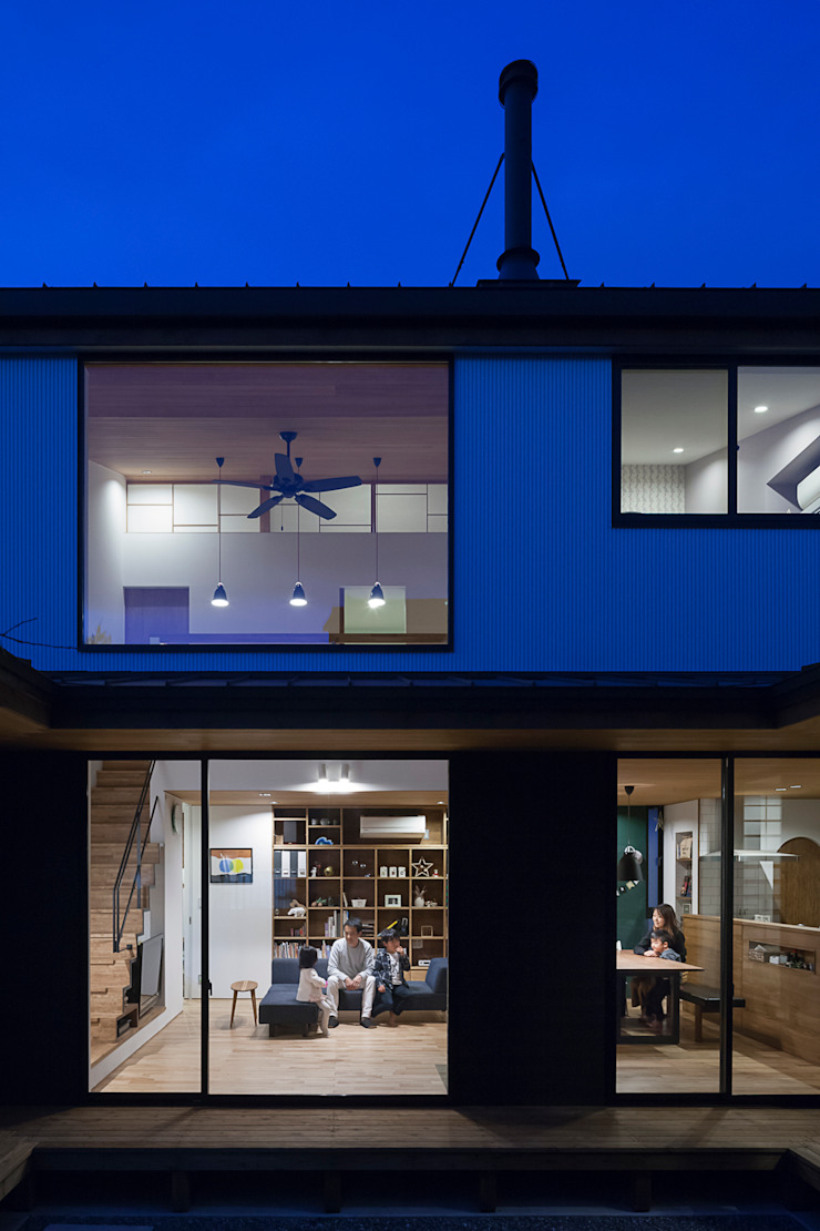 根來宏典建築研究所 บ้านและที่อยู่อาศัย ไม้ Wood effect