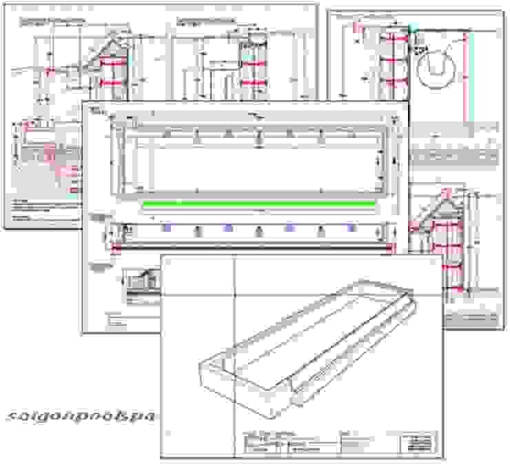 modern  von Công ty thiết kế xây dựng hồ bơi Saigonpoolspa, Modern
