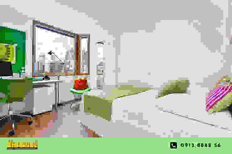 Các mẫu sàn gỗ Phòng ngủ phong cách hiện đại bởi Kho Sàn Gỗ Hiện đại