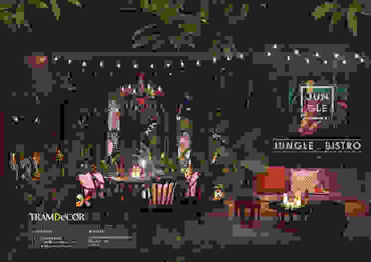 Jungle Bistro – Bộ Concept nhiệt đới mang hơi thở của thiên nhiên bởi Công ty Thiết kế Nội Thất Tramdecor Nhiệt đới