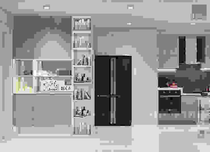 Thiết kế nội thất Vinhomes Centra Park đẹp rạng ngời cùng sắc trắng tinh khôi bởi ICON INTERIOR Hiện đại