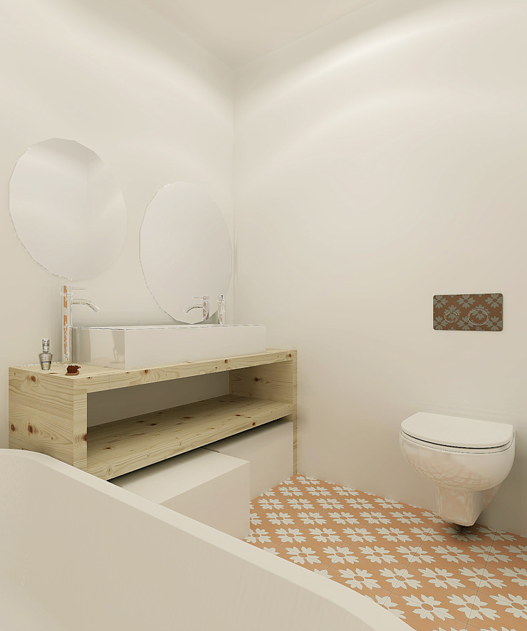 Homestories Scandinavian style bathroom