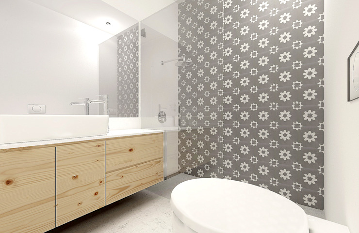 Scandinavian style bathrooms by Homestories Scandinavian