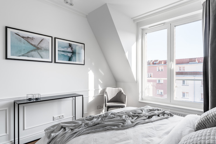 Eclectic style bedroom by Anna Serafin Architektura Wnętrz Eclectic