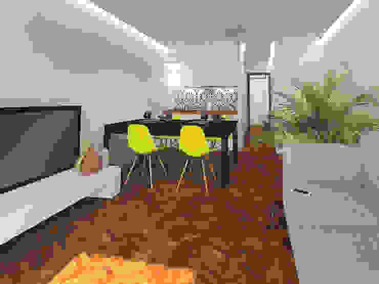 Apartamento . Lisboa . Reabilitação . Restauro . Remodelação Salas de estar modernas por aponto Moderno