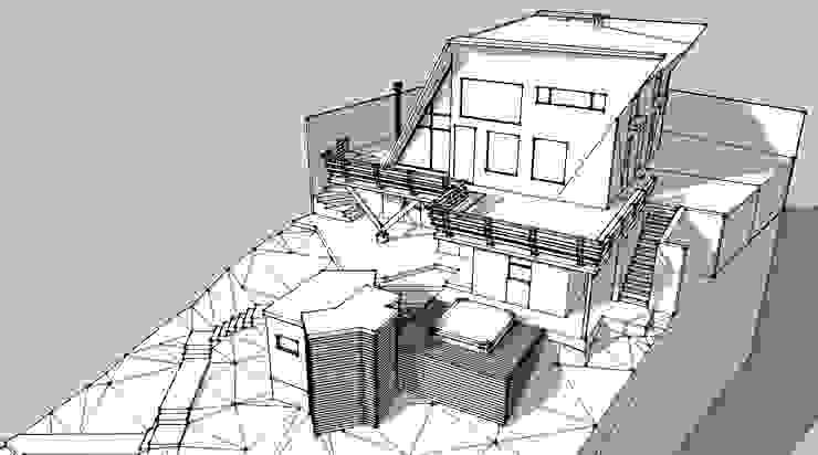 Casa JPS Farellones 02 de Sotomayor & Asociados Moderno Compuestos de madera y plástico