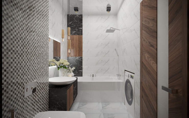 Деревянный бум Ванная комната в стиле минимализм от ХаТа - design Минимализм