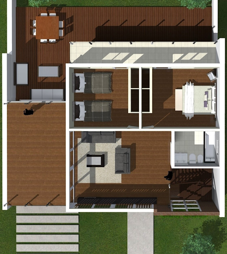 Modern Bedroom by JVG Arquitectura Modern