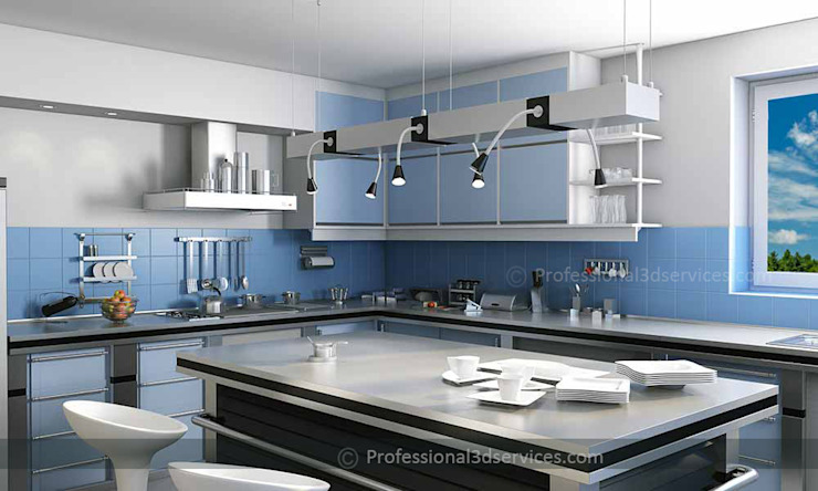 Architectural 3D Interior Rendering by ThePro3DStudio Modern