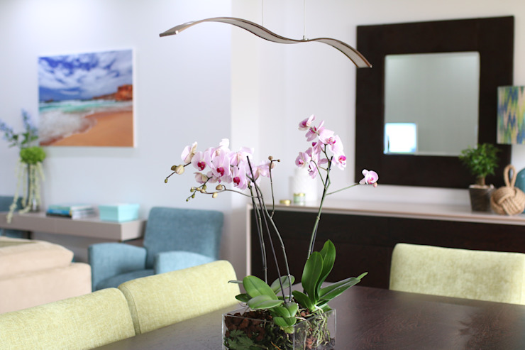 Sala de jantar Salas de jantar ecléticas por Perfect Home Interiors Eclético Madeira Efeito de madeira