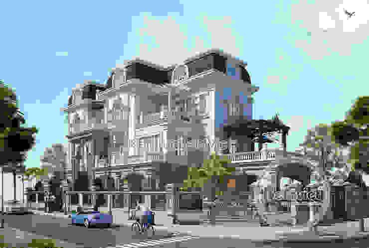 Phối cảnh mẫu thiết kế biệt thự đẹp 3 tầng siêu hoành tráng (CĐT: Ông Tuấn - Nghệ An)KT16107 bởi Công Ty CP Kiến Trúc và Xây Dựng Betaviet