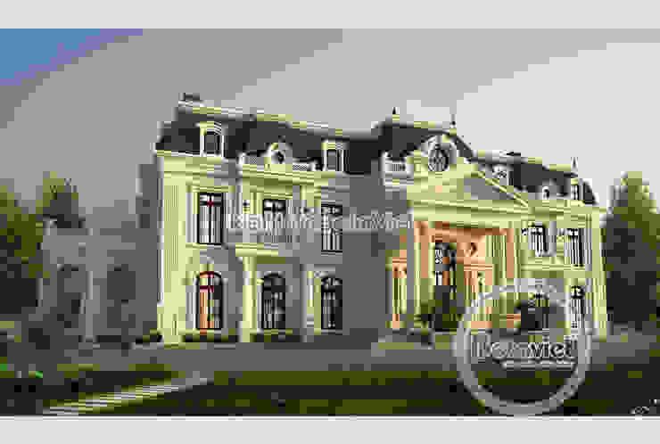 Phối cảnh mẫu thiết kế biệt thự đẹp 2 tầng Cổ điển hoa lệ hoành tráng ( CĐT: Ông Nam - Thanh Hóa) KT17034 bởi Công Ty CP Kiến Trúc và Xây Dựng Betaviet