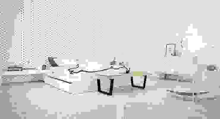 Mẫu thiết kế nội thất phòng ngủ hiện đại cao cấp: hiện đại  by Thương hiệu Nội Thất Hoàn Mỹ, Hiện đại Mây / đan lát Turquoise