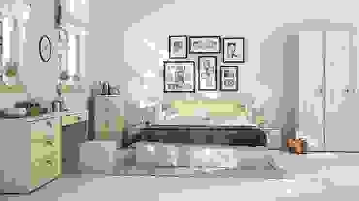 Mẫu thiết kế nội thất phòng ngủ hiện đại cao cấp: hiện đại  by Thương hiệu Nội Thất Hoàn Mỹ, Hiện đại Da Grey
