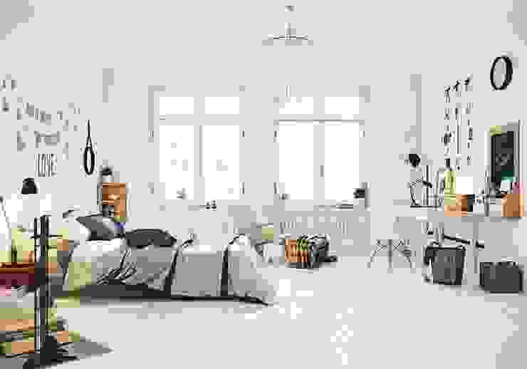 Mẫu thiết kế nội thất phòng ngủ hiện đại cao cấp: hiện đại  by Thương hiệu Nội Thất Hoàn Mỹ, Hiện đại Đồng / Đồng / Đồng thau