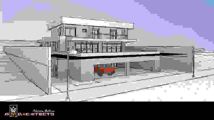 Arquitetura M - Arquitetura e Engenharia Modern garage/shed