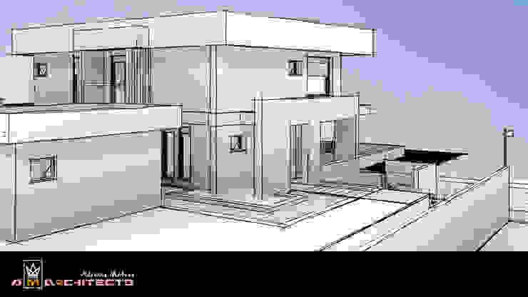 Arquitetura M - Arquitetura e Engenharia Modern garden