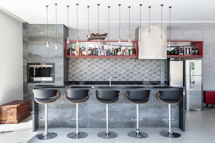 Metrik Design - Arquitetura e Interiores Industrial style kitchen