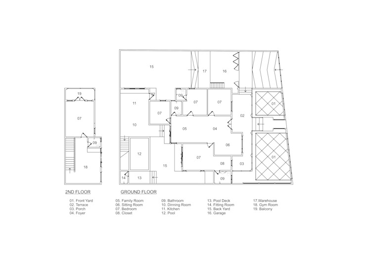 Floor Plan PFR 02 Oleh CASA.ID ARCHITECTS