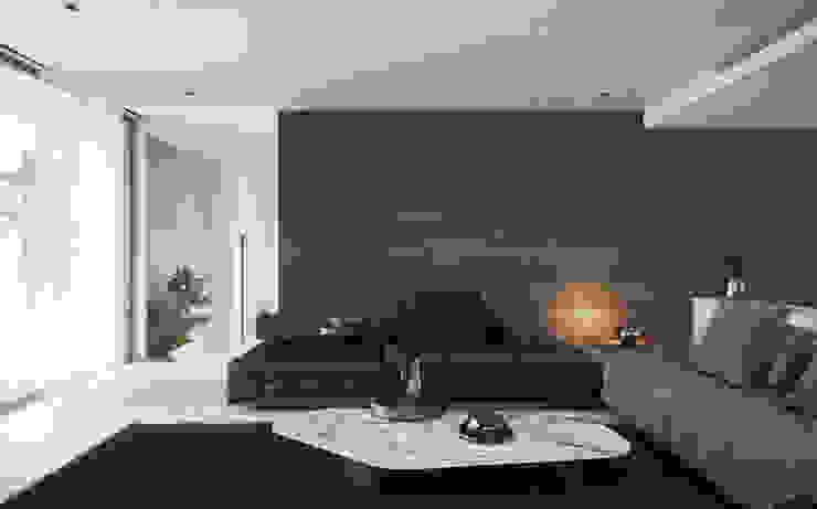 Salon de style  par CIC ARQUITECTOS , Minimaliste
