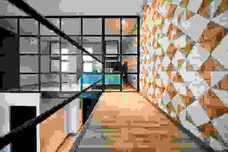 Salas modernas de ESTUDIO TANGUMA Moderno Derivados de madera Transparente