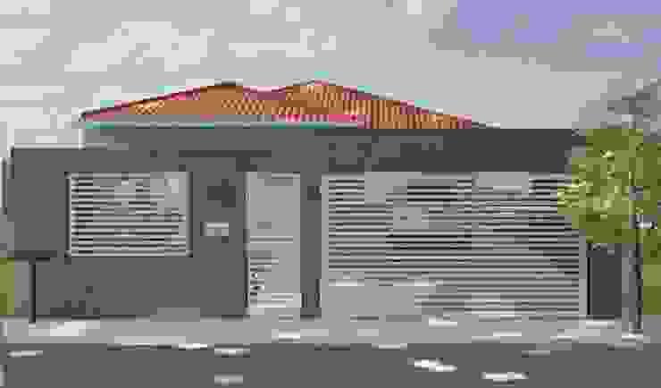 Nova fachada por Daniela Ponsoni Arquitetura Moderno