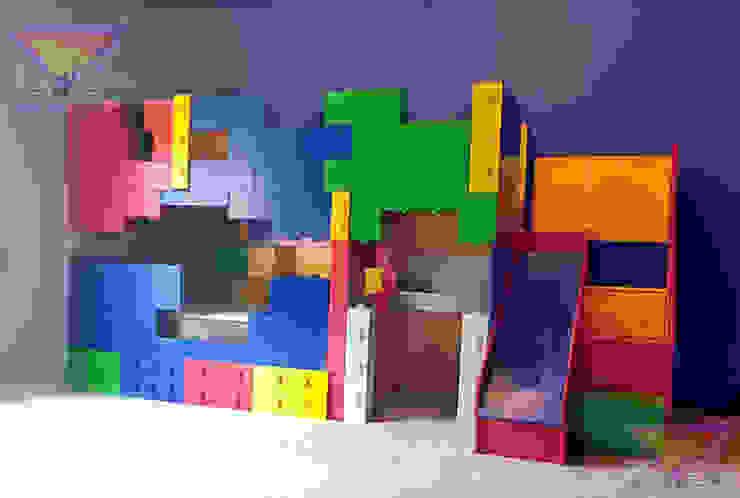 Impresionante litera de Legos de Kids Wolrd- Recamaras Literas y Muebles para niños Moderno Derivados de madera Transparente
