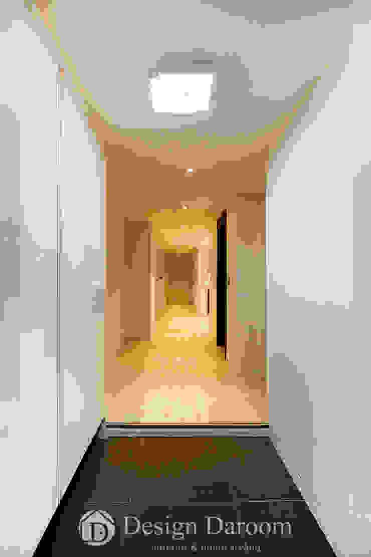 광장동 워커힐 아파트 56py 현관 모던스타일 복도, 현관 & 계단 by Design Daroom 디자인다룸 모던