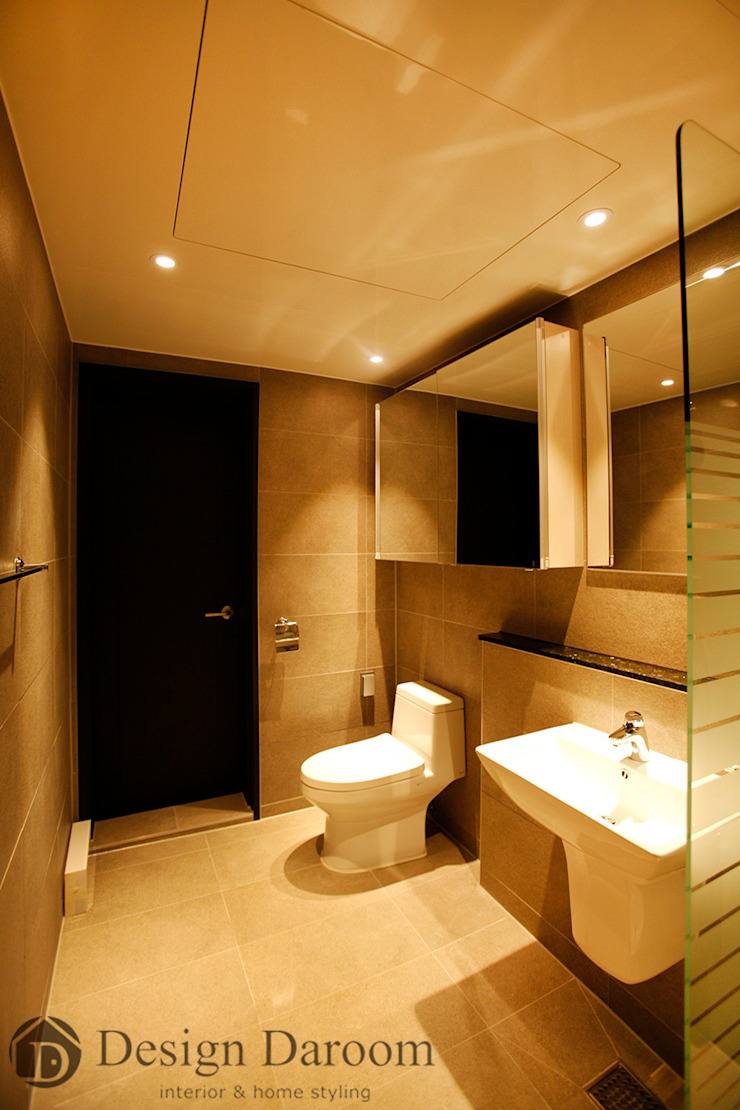 광장동 워커힐 아파트 56py 안방욕실 모던스타일 욕실 by Design Daroom 디자인다룸 모던