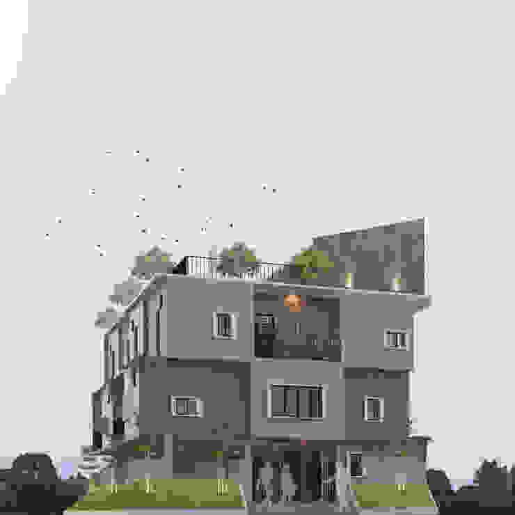 Bording House Pekanbaru Ruang Komersial Gaya Rustic Oleh CASA.ID ARCHITECTS Rustic Beton