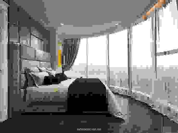 Nội thất Vinhomes Golden River - Vẻ đẹp Châu Âu giữa lòng thành phố Phòng ngủ phong cách kinh điển bởi ICON INTERIOR Kinh điển