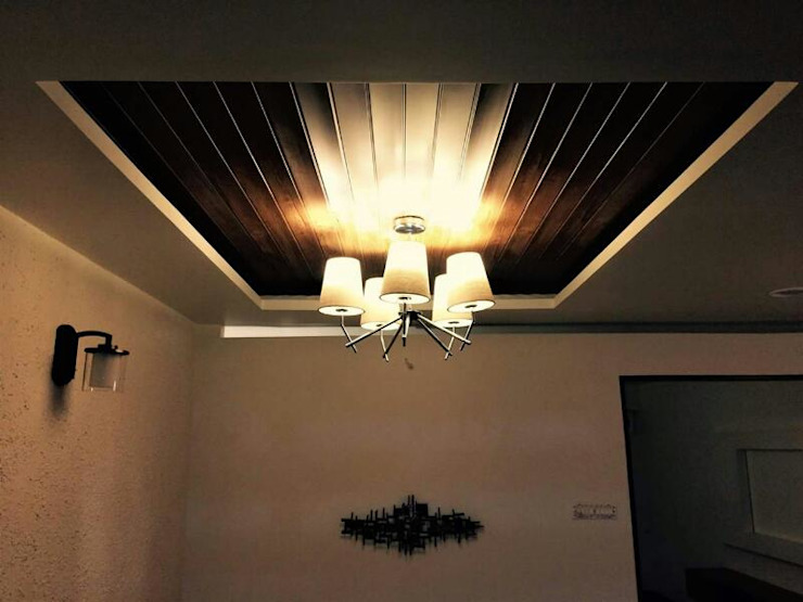 Veneer based minimilist theme Asian style living room by The Wood Works Club Asian