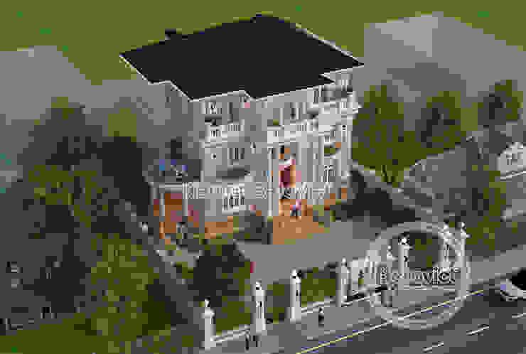 Phối cảnh mẫu thiết kế lâu đài dinh thự 3 tầng kiểu Pháp Tân cổ điển (CĐT: Ông Thái - Bắc Ninh) KT17091 bởi Công Ty CP Kiến Trúc và Xây Dựng Betaviet