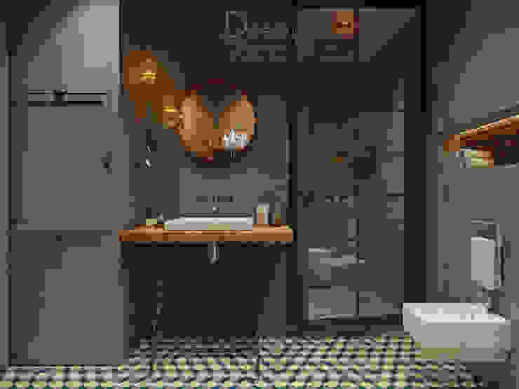 В духе брутального романтизма Ванная в стиле лофт от Design Service Лофт